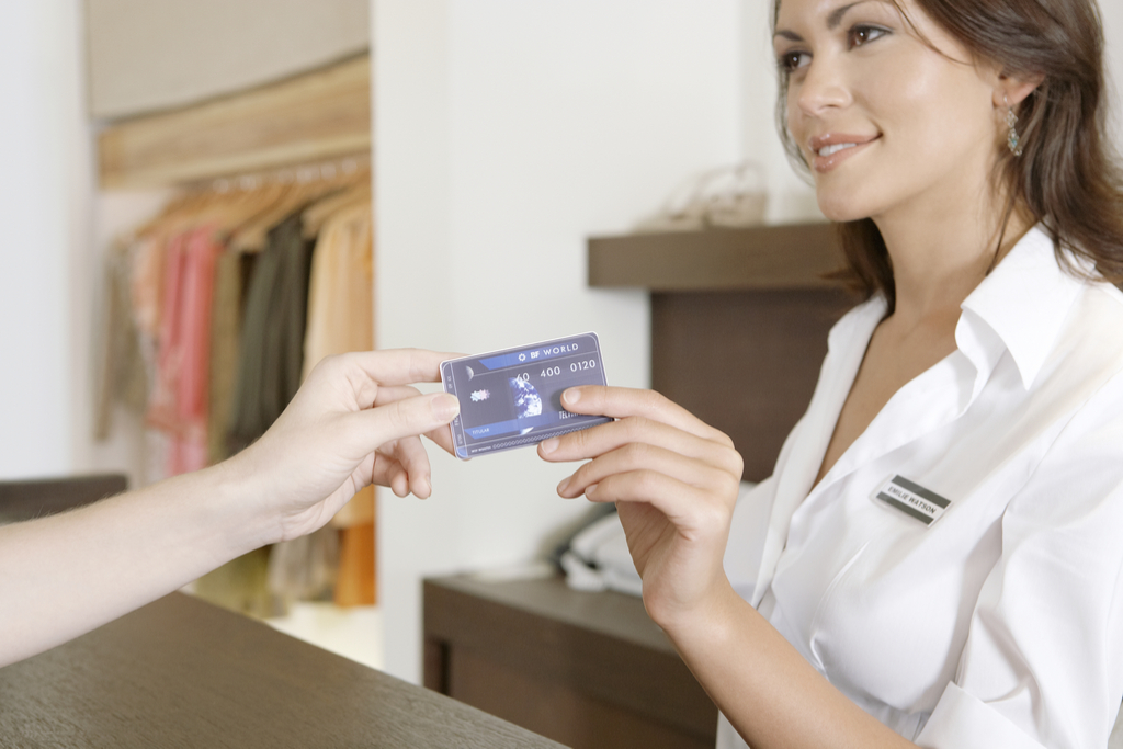 Handing Credit Card Over 25 Years