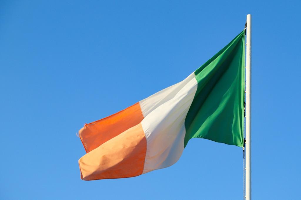Flag of Ireland corny jokes