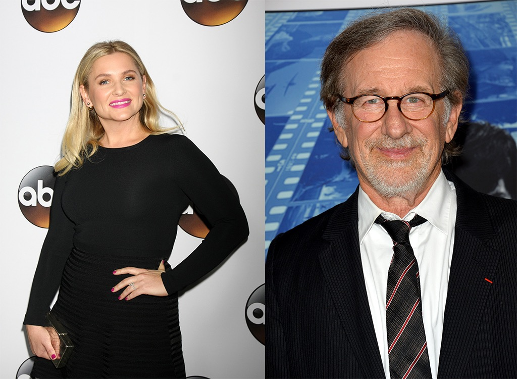 Jessica Capshaw stepfather Stephen Spielberg