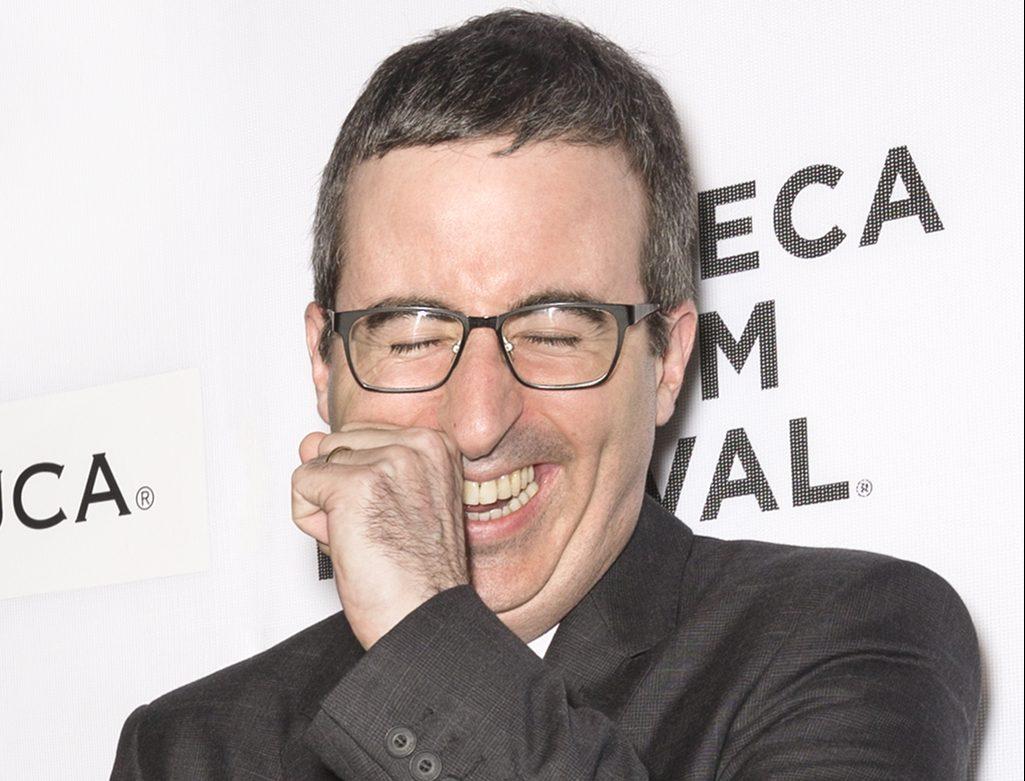 John Olliver Laughing Late Night