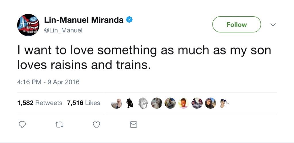 Lin-Manuel Miranda funny tweet