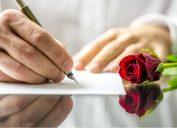 Man Writing Love Note Romance