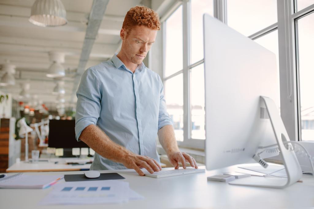 Man at Standing Desk