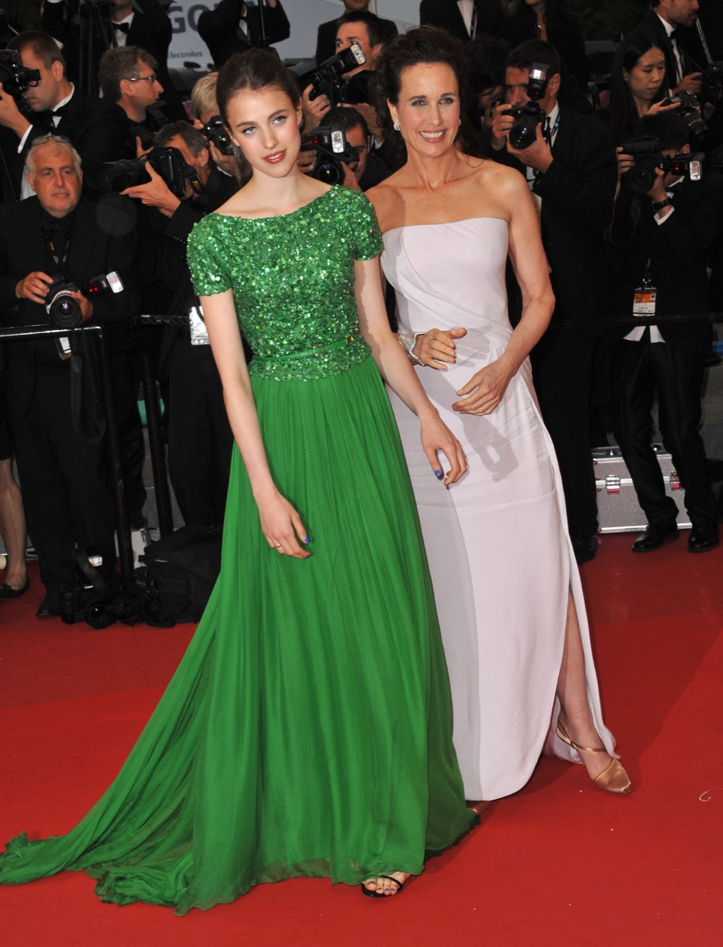 Margaret Qualley and Andie Macdowell