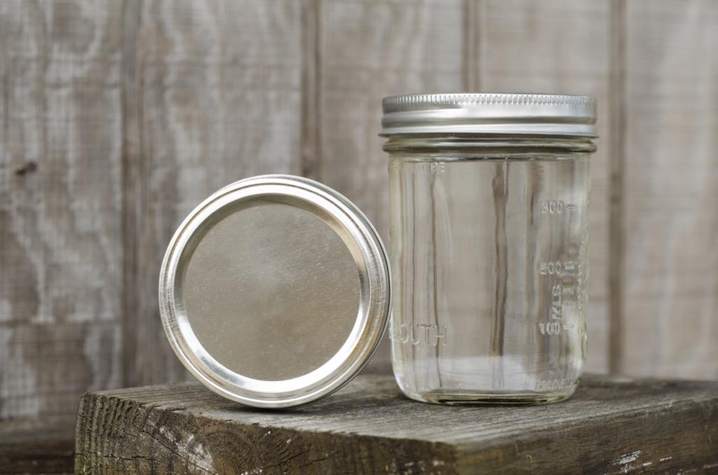 Glass jar organized