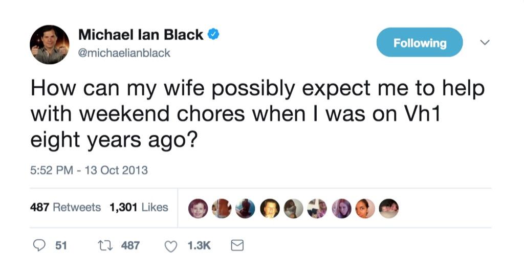 Michael Ian Black funniest celebrity marriage tweets