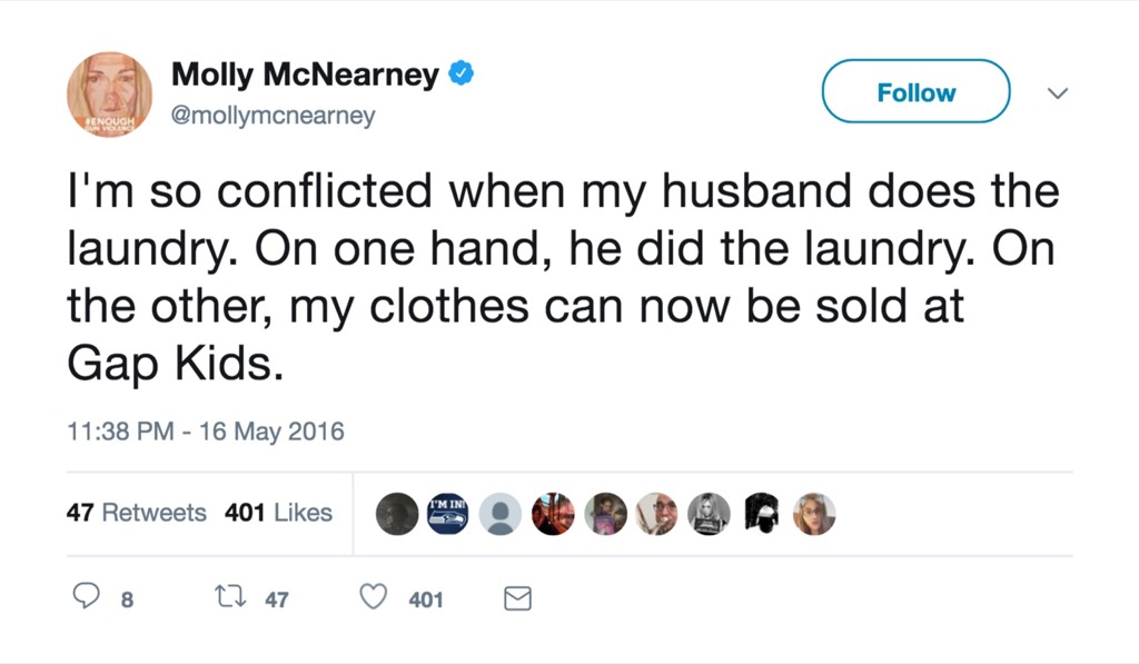Molly McNearney funniest celebrity marriage tweets