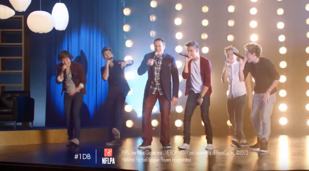 One Direction and Drew Brees Pepsi Celebrity Commercials