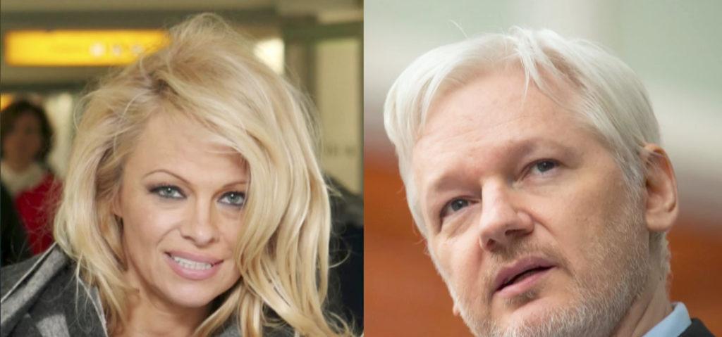 Pamela Anderson Julian Assange Fascinating Celebrity Friendships