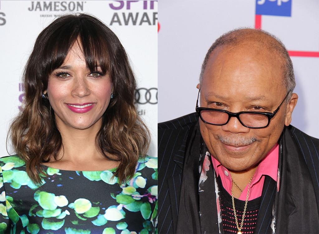 Parks and Rec star Rashida Jones and Quincy Jones