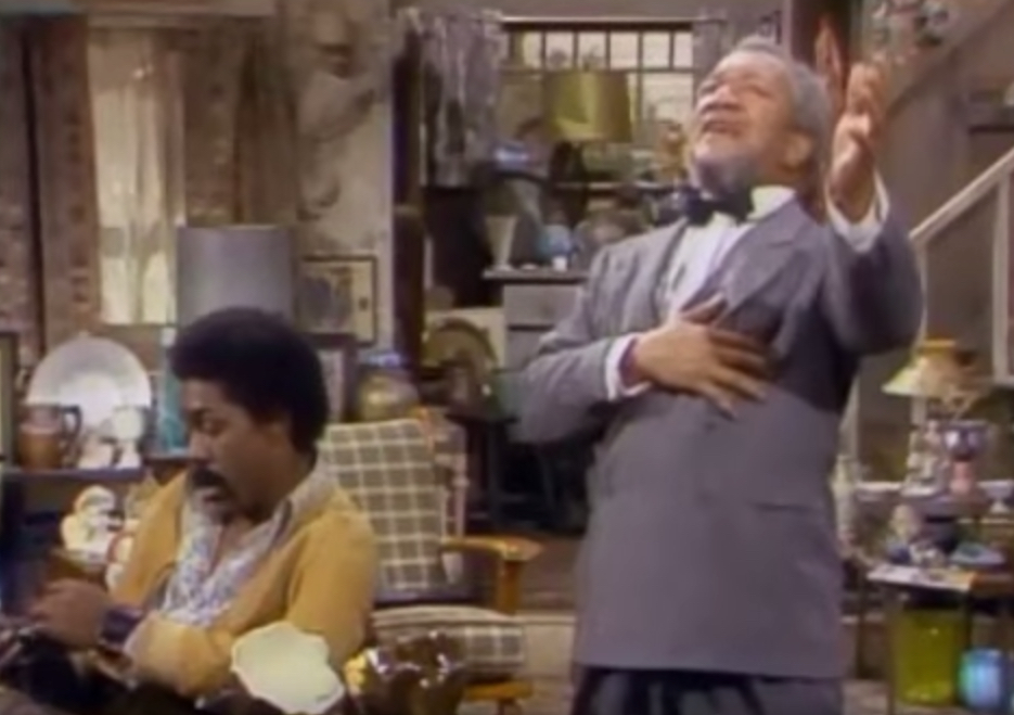 Sanford and Son Fred Sanford Fakes Heart Attack Funniest Sitcom Jokes