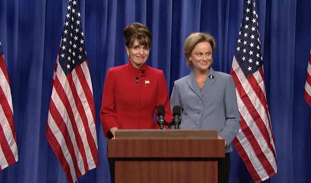Sarah Palin and Hillary Clinton Address the Nation Funniest SNL Skits