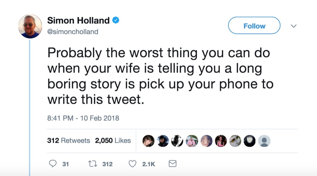Simon Holland funniest celebrity marriage tweets