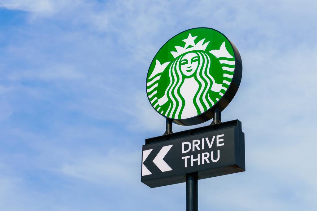 Starbucks Drive Thru Sign