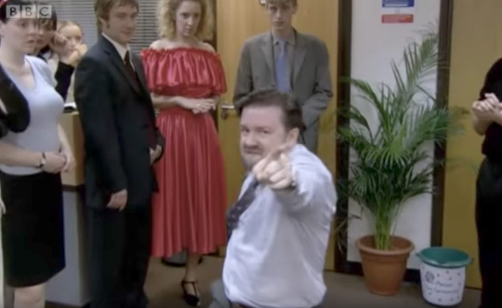 The Office UK Ricky Gervais Dances Funniest Sitcom Jokes