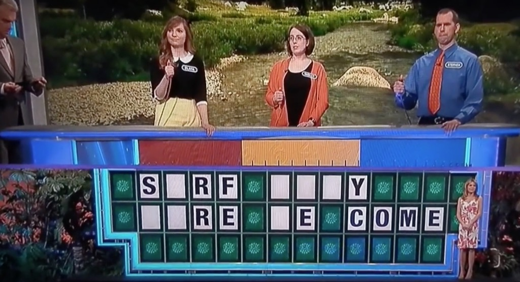 Wheel of Fortune funny gameshow moments Surf City