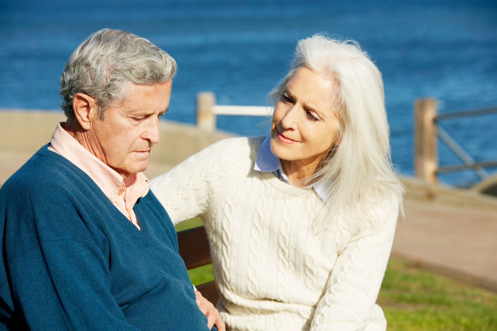 Woman Comforting Man with Dementia Your Doctor