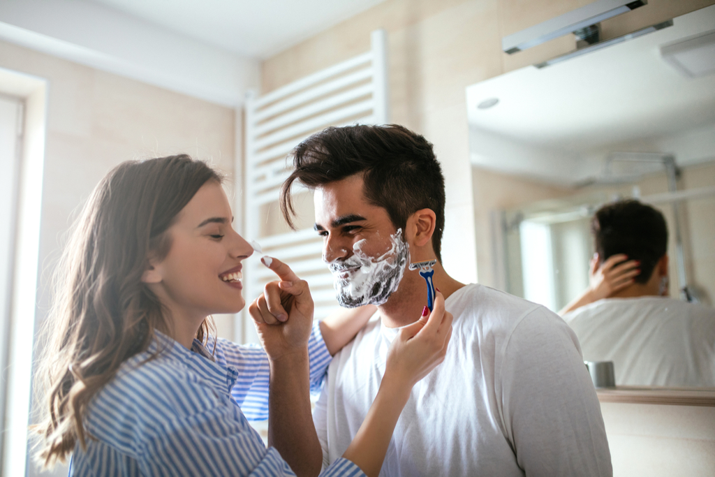 Woman Shaving Partner Romance - what men find attractive in women