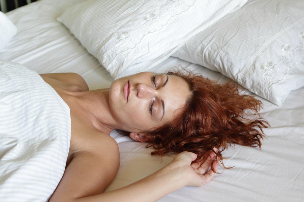 Woman Sleeping on Back Anti-Aging