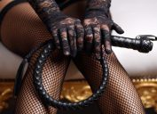 Woman with Whip BDSM for beginners