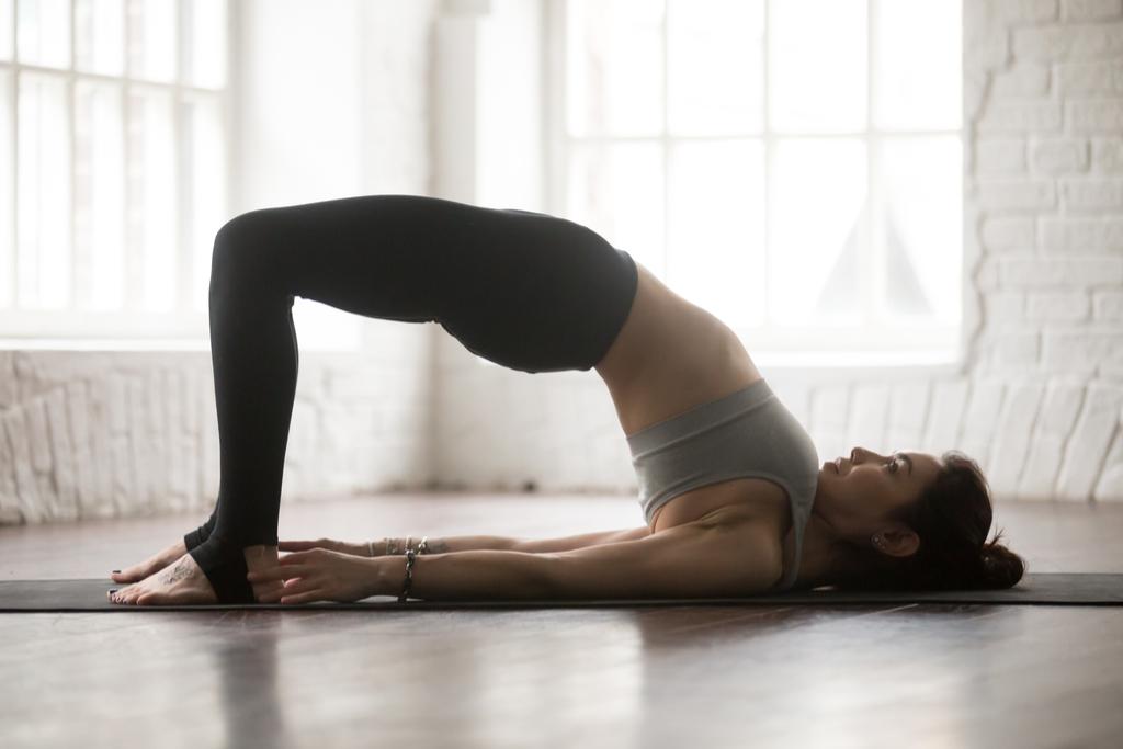 Yoga Bridge Pose Anti-Aging