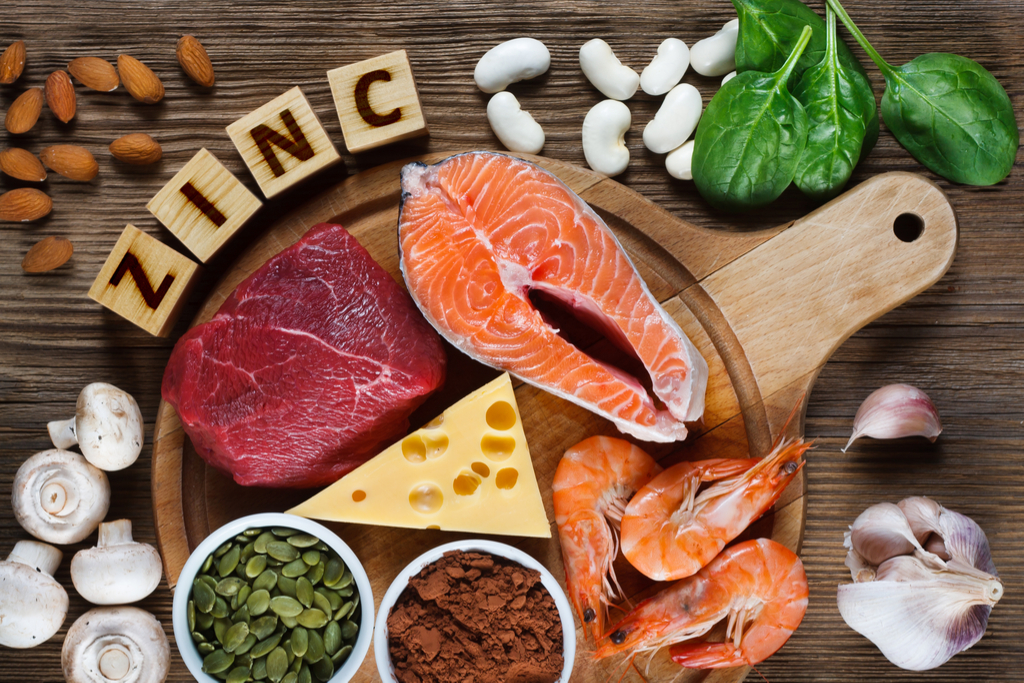 Food with Zinc Anti-Aging