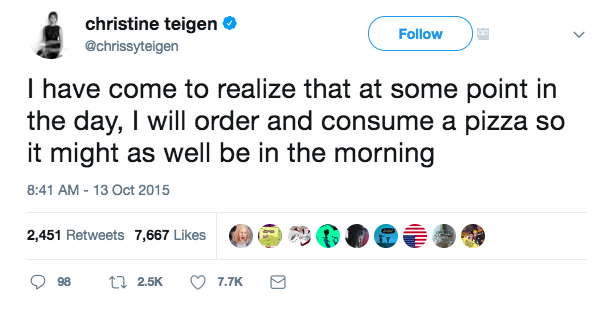 Chrissy Teigen Tweets