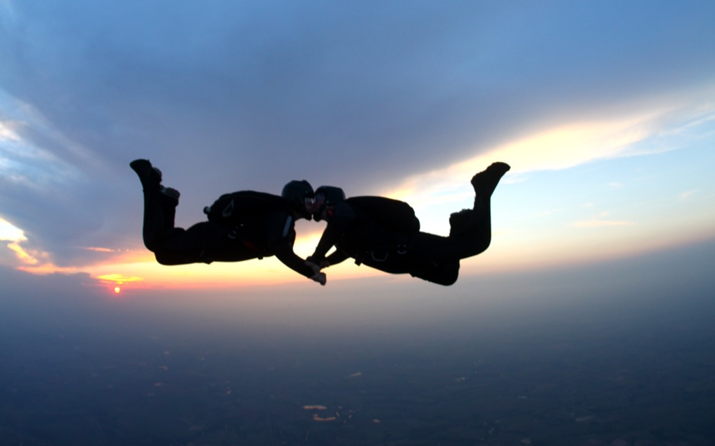 skydive valentines day ideas