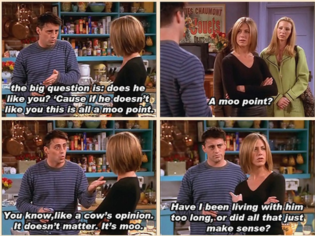 joey describes a moot point