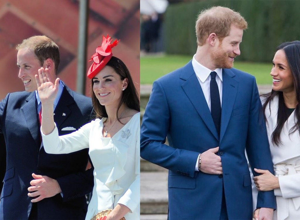 William, Kate Middleton, Harry, and Meghan