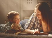 mother reading to daughter prevent heart disease
