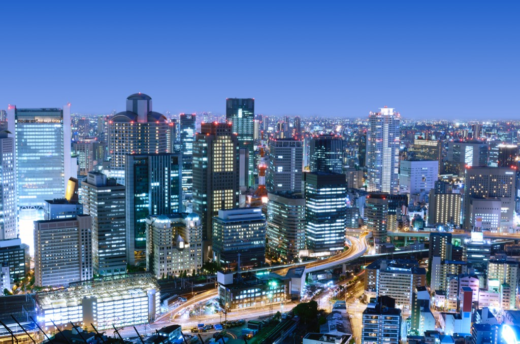 Osaka, Japan Cleanest Cities in the world