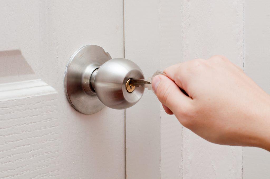 Unlocking Door in Home