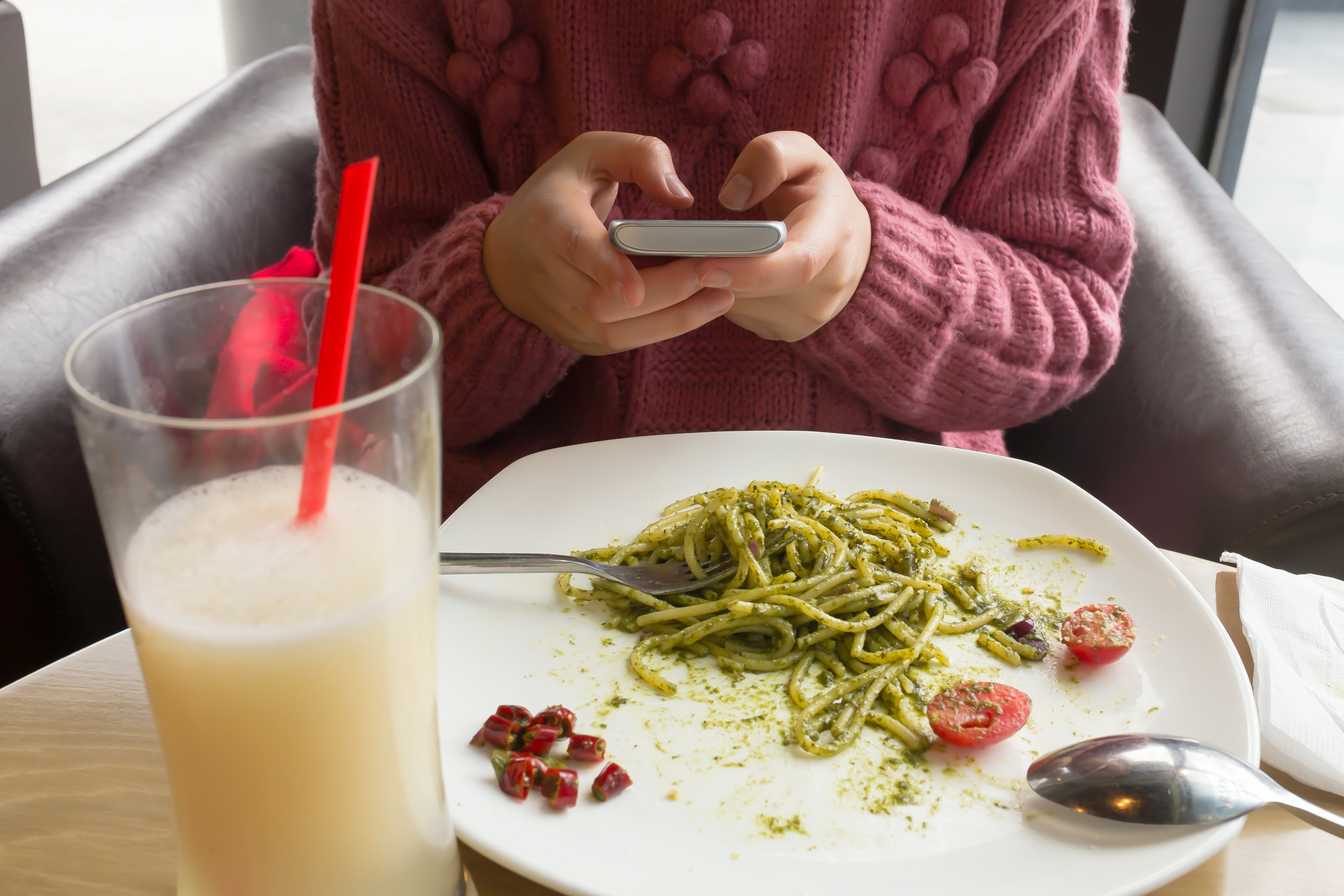Confidence / On Phone at Meal