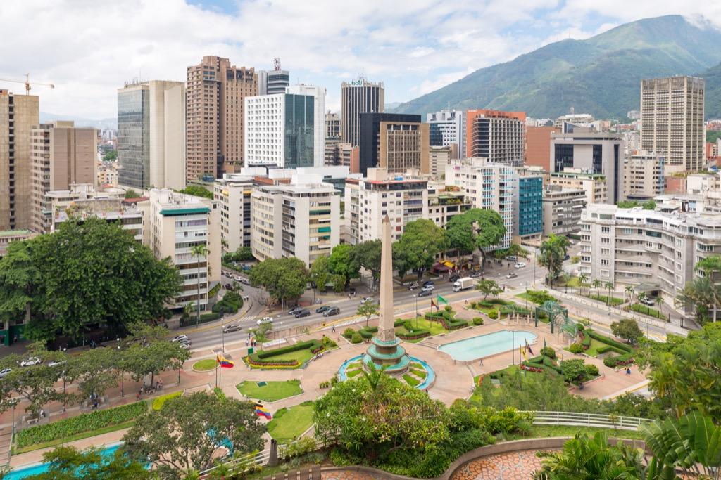 Caracas, Venezuela cleanest cities in the world