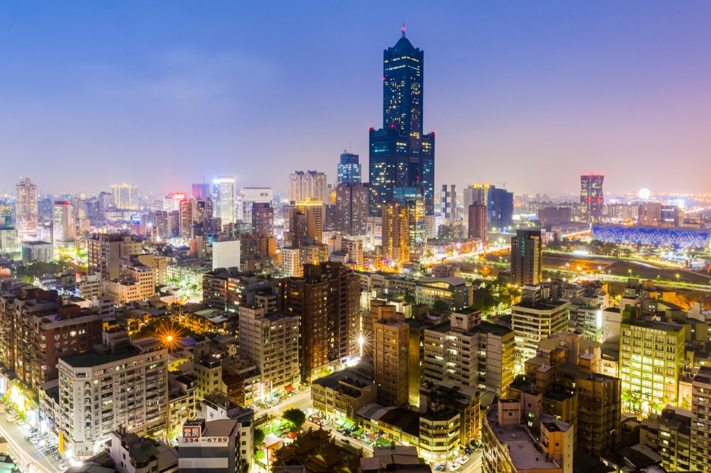 Kaohsiung, Taiwan Cleanest Cities in the world