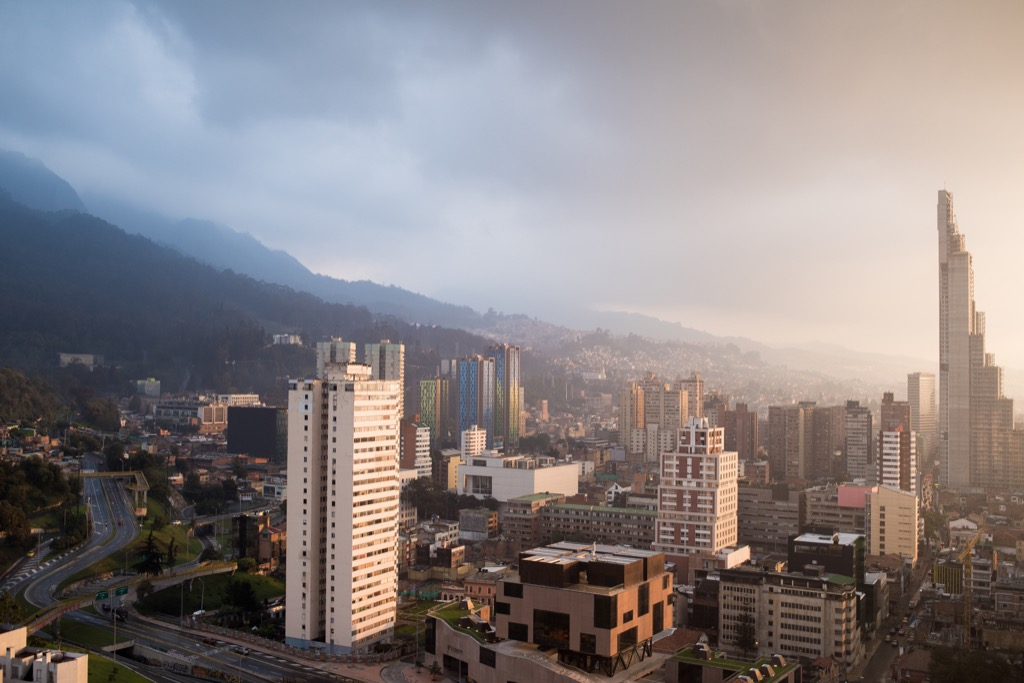 Bogotá, Colombia Cleanest Cities in the world