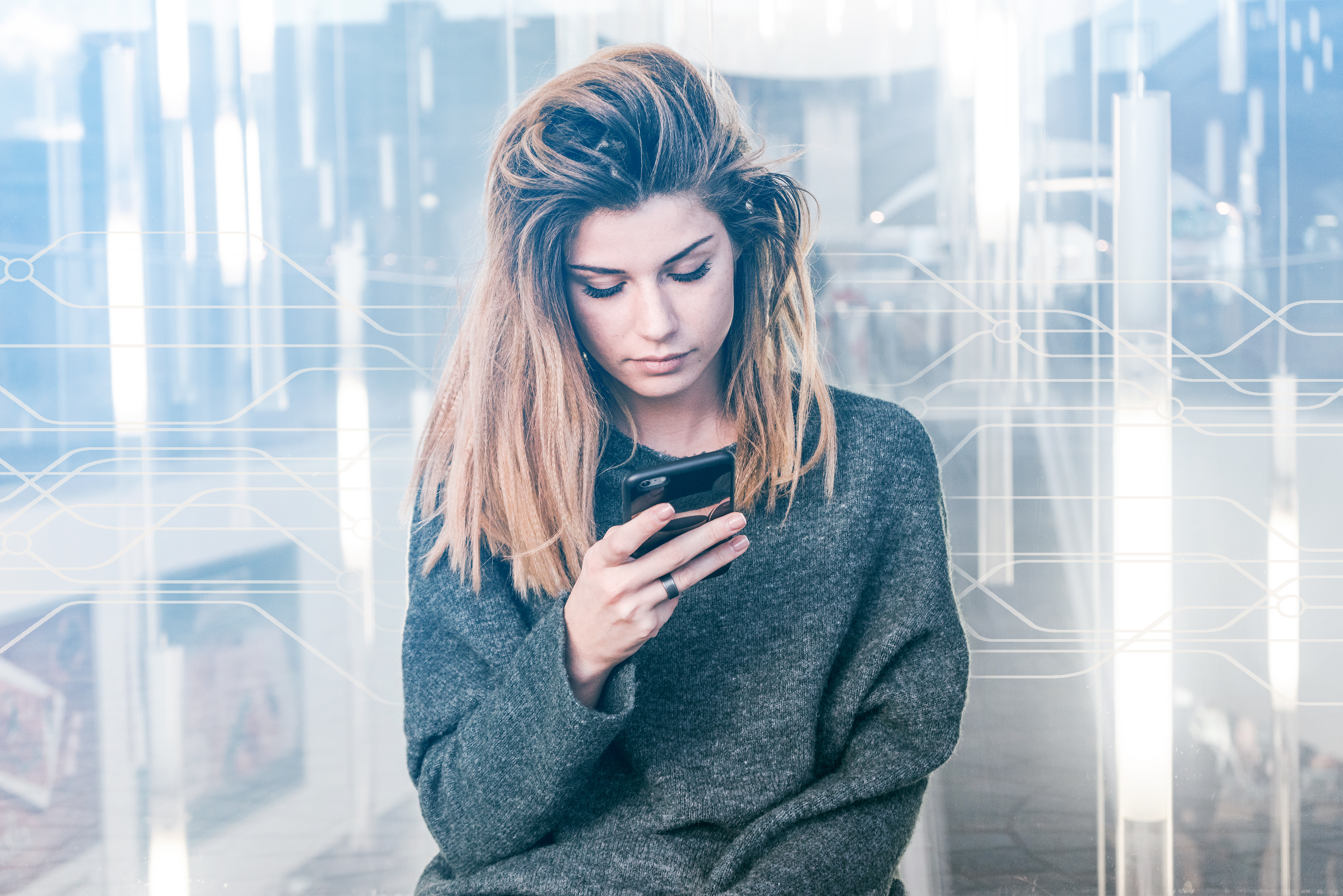 Confidence / Sad Girl on Phone