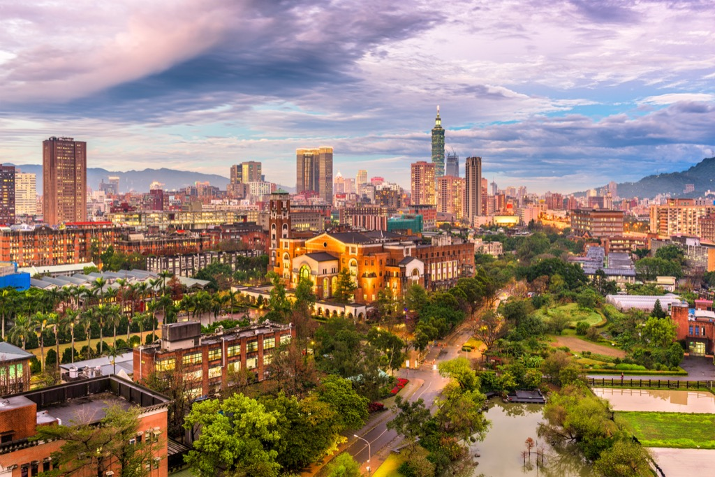 Taipei, Taiwan Cleanest Cities in the world