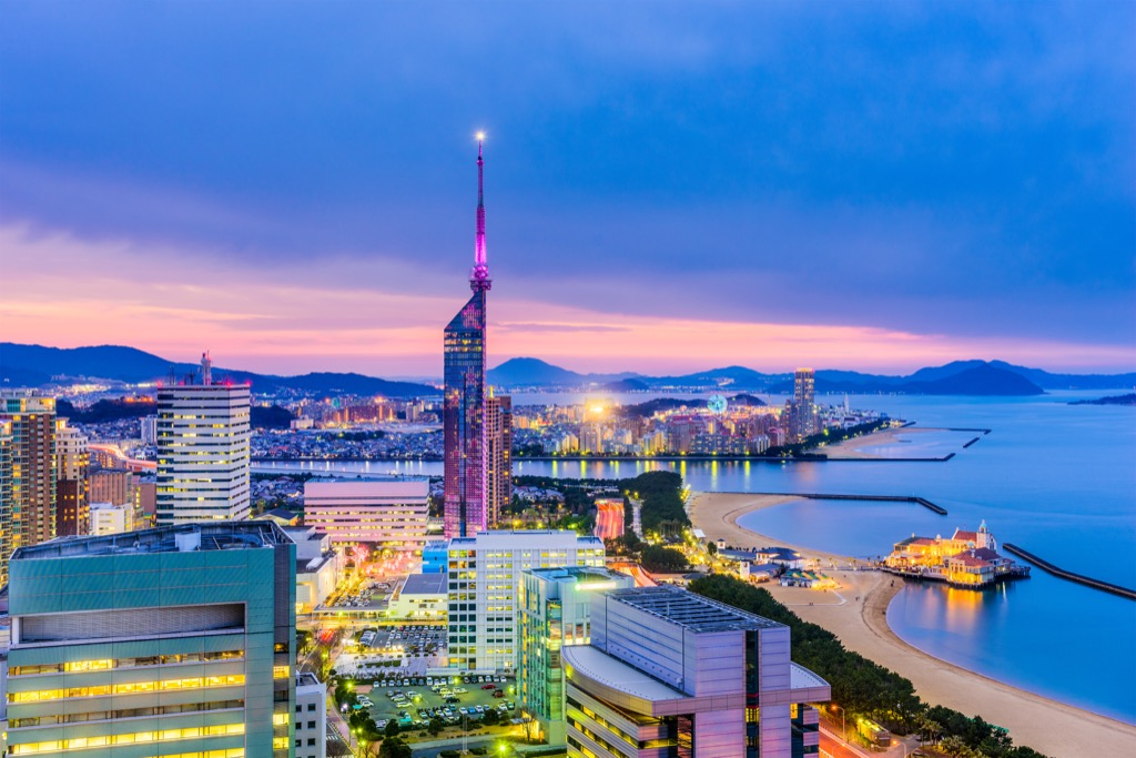 Fukuoka, Japan Cleanest Cities in the world