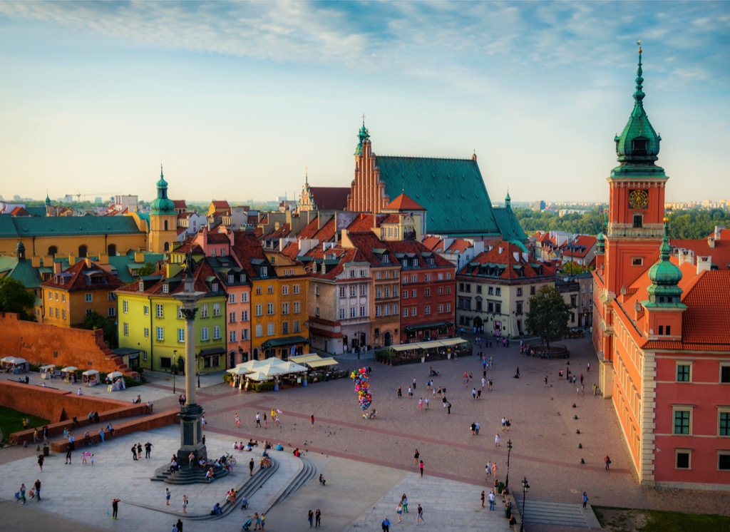 Warsaw Poland Cleanest Cities in the world