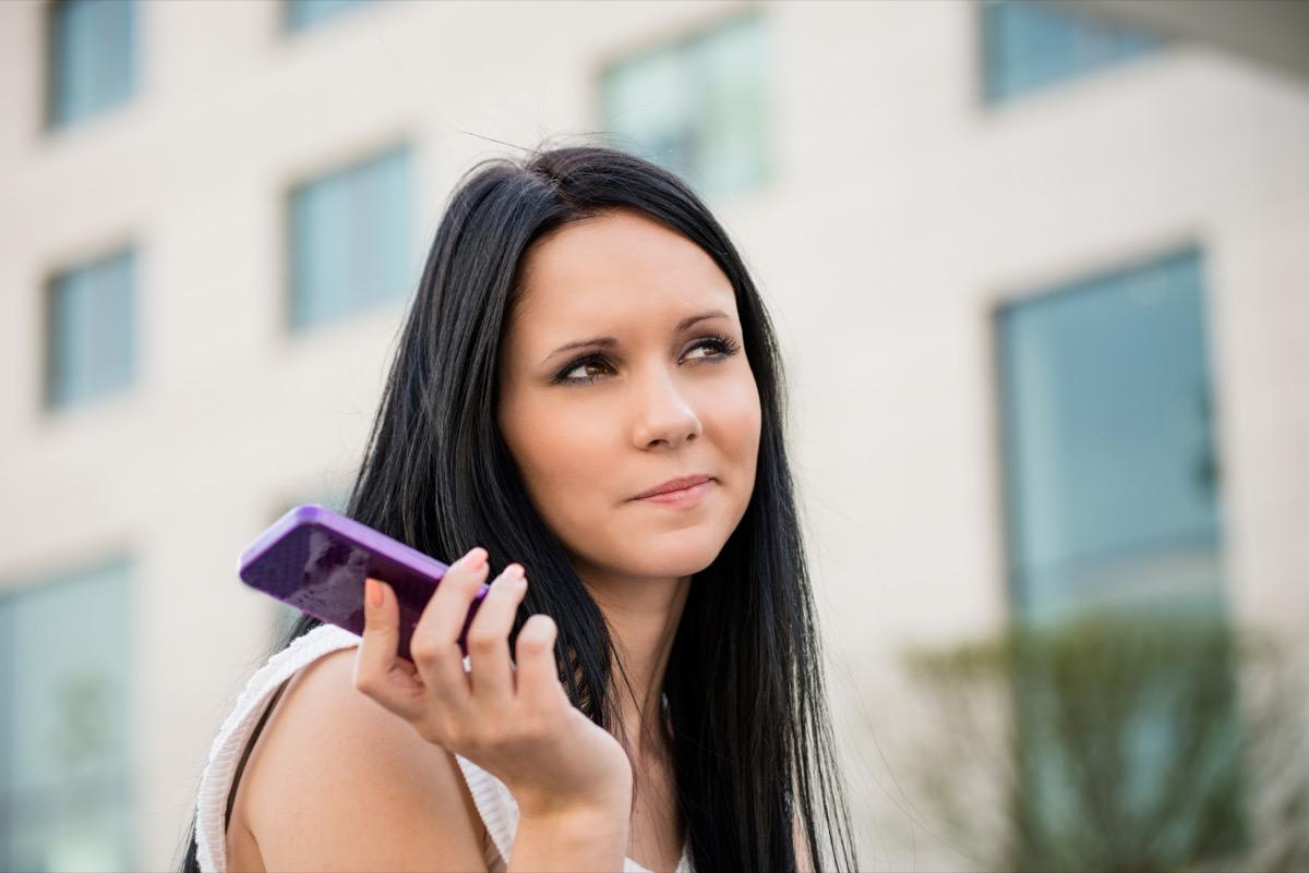 Woman Ignoring Her Phone Slang Terms