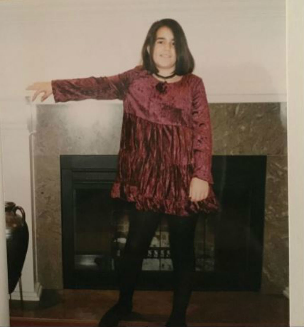 Abbi Jacobson as a teen.