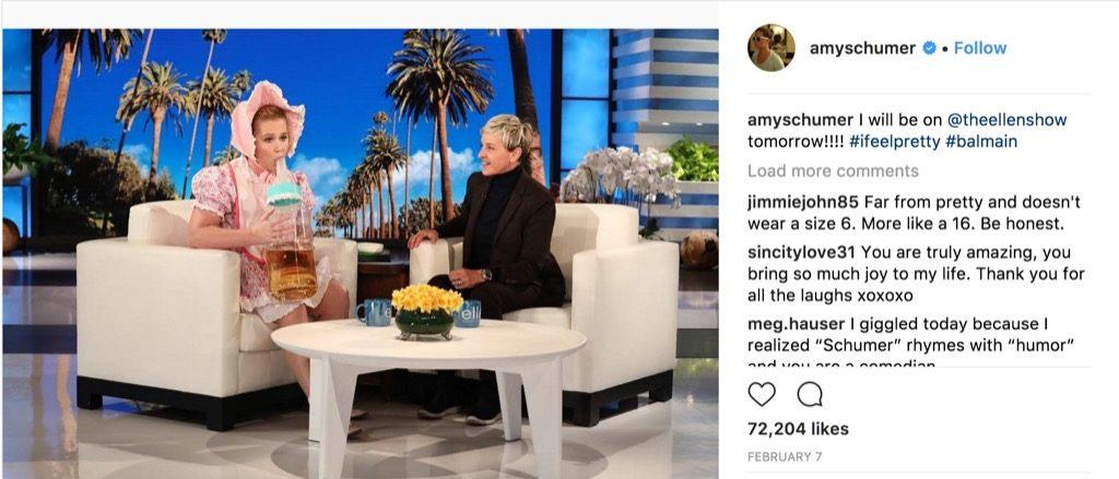 Amy Schumer Ellen funniest celebrity photos