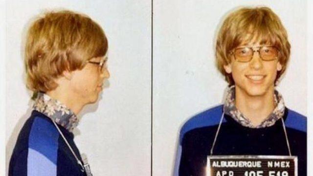 Bill Gates funny celebrity mugshots