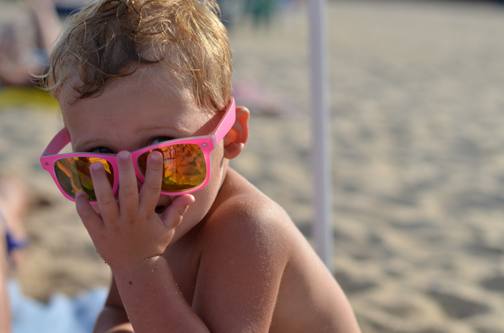 Boy with Pink Sunglasses Parenting worse skin