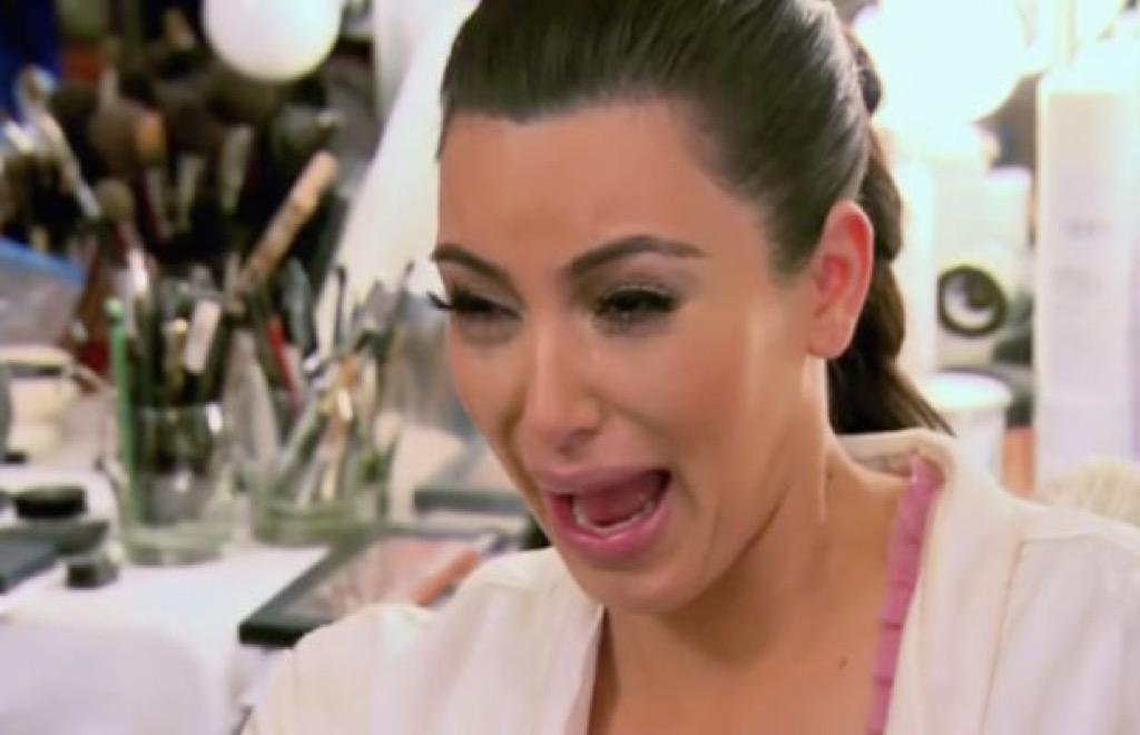 Crying Kim Kardashian meme