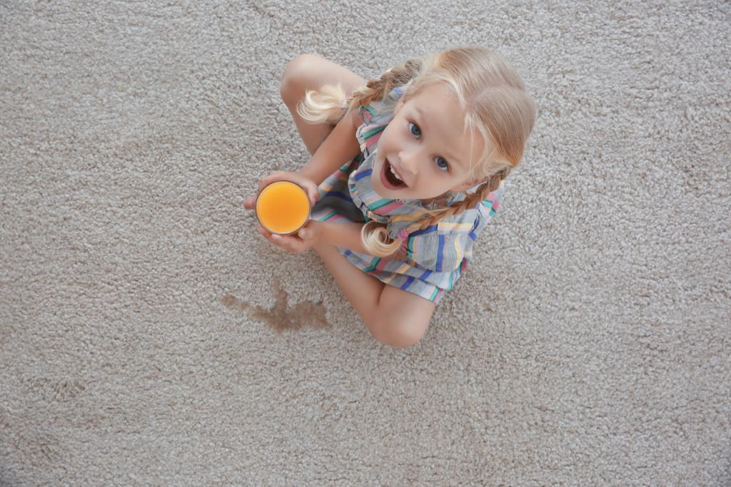 Girl Spilling Juice Parenting