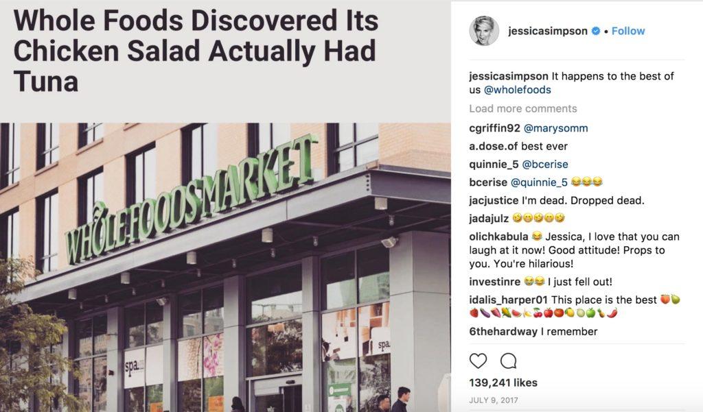 Jessica Simpson tuna Instagram funniest celebrity photos
