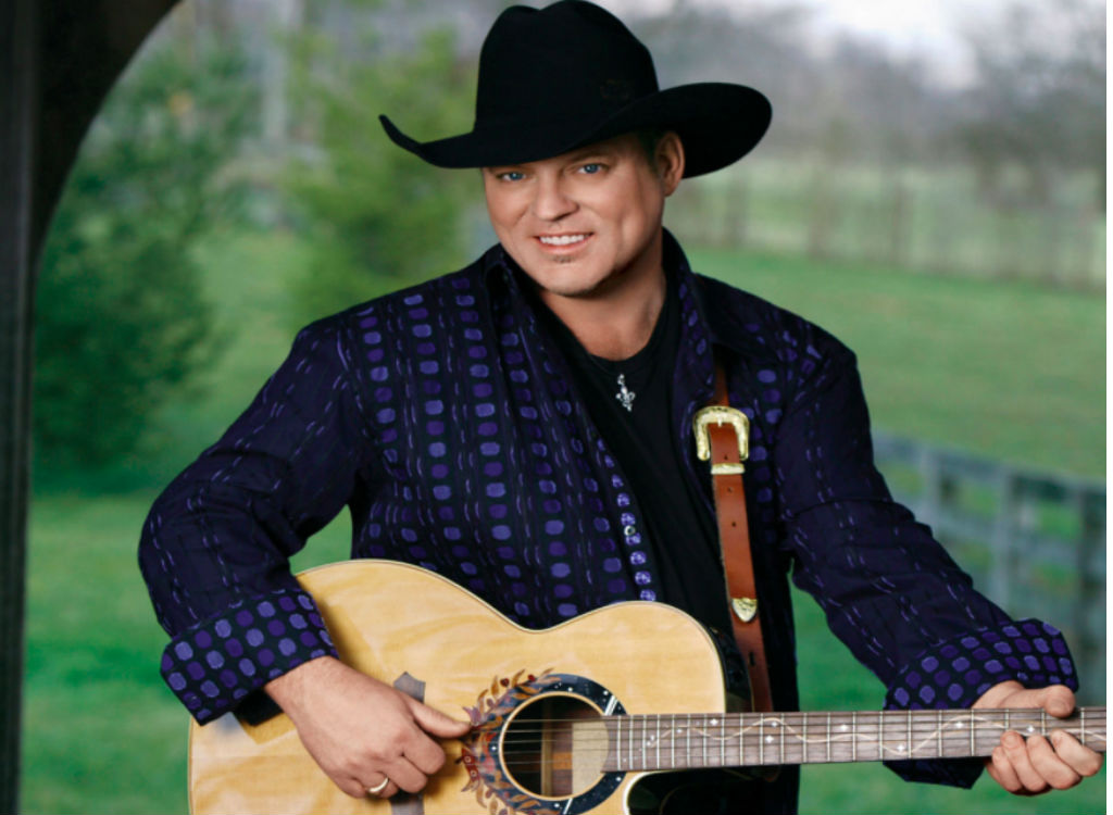 John Michael Montgomery with his shirt on